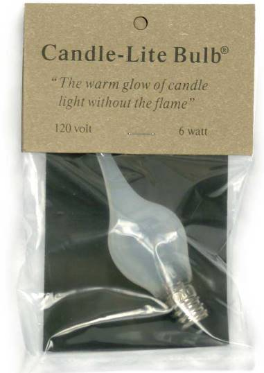 Bulk - 6 Watt Large Candle-Lite Light Bulb