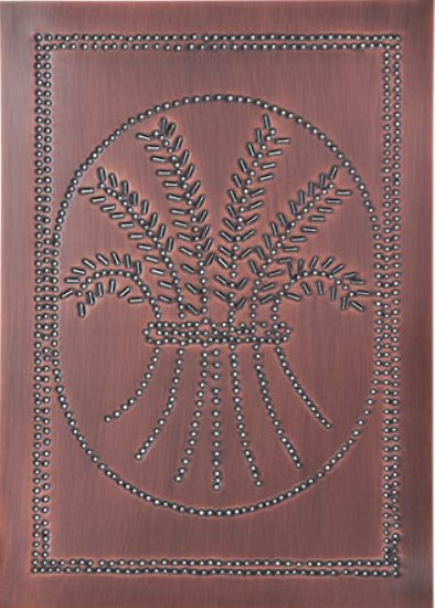 Vertical Wheat Panel in Antique Copper