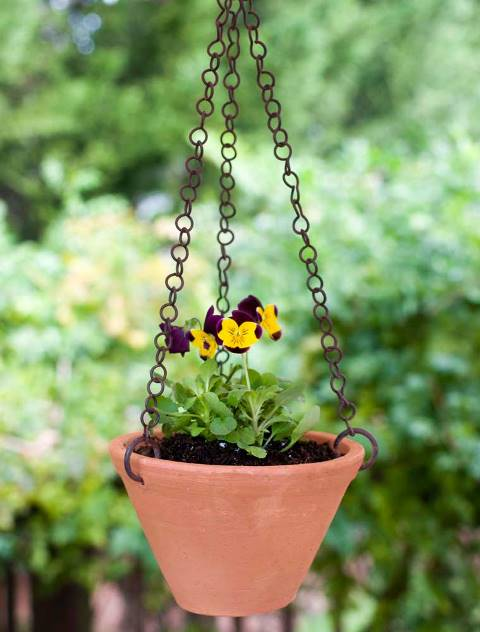Shallow Hanging Terra Cotta Pot Box of 2
