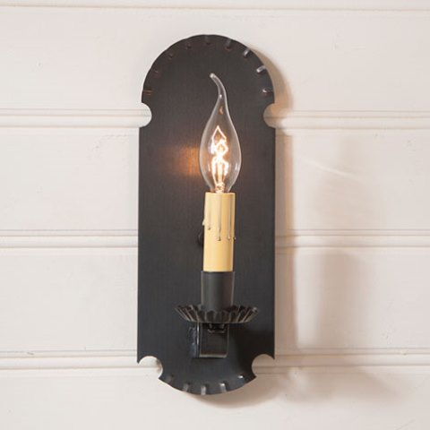 Apothecary Sconce in Blackened Tin
