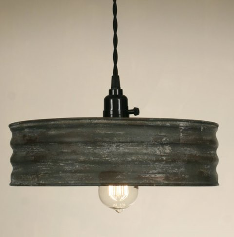 Sifter Pendant Lamp - Textured Grey