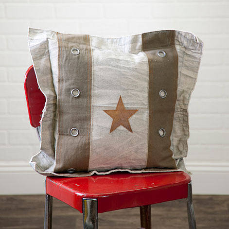 Star Square Pillow with Flange