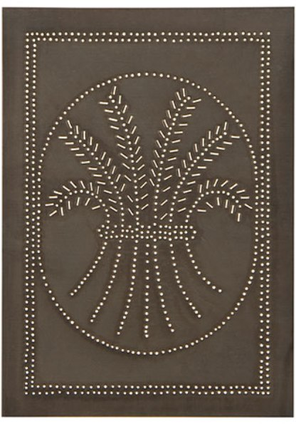 Vertical Wheat Panel in Blackened Tin-Vertical Wheat Panel in Blackened Tin