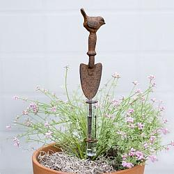 Small Shovel and Bird Rain Gauge Garden Stake-Small Shovel and Bird Rain Gauge Garden Stake