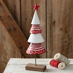 Hand Painted Metal Christmas Tree-Hand Painted Metal Christmas Tree