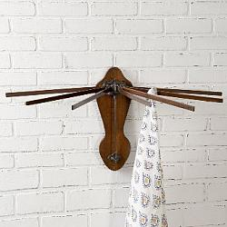 Wooden Wall Mounted Drying Rack-Wooden Wall Mounted Drying Rack