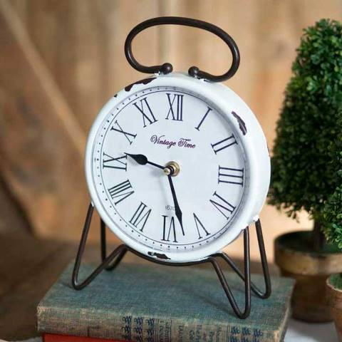 Vintage Time Tabletop Clock-Vintage Time Tabletop Clock