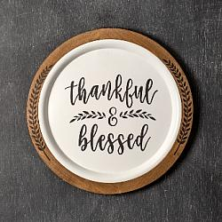Thankful & Blessed Wall Décor-Thankful  Blessed Wall Dcor