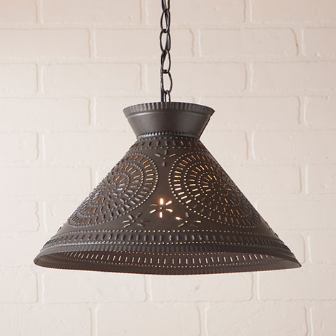Roosevelt Shade Light with Chisel in Kettle Black-Roosevelt Shade Light with Chisel in Kettle Black