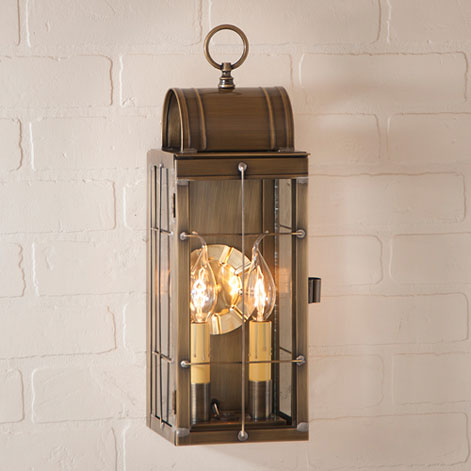 Queen Arch Lantern in Weathered Brass-Queen Arch Lantern in Weathered Brass