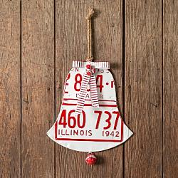 License Plate Holiday Bell-License Plate Holiday Bell