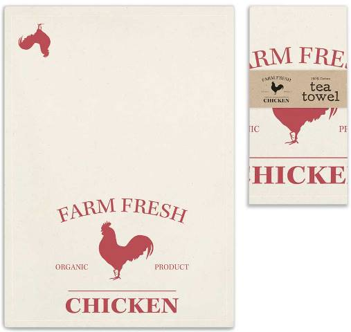 Farm Fresh Chicken Tea Towels-Farm Fresh Chicken Tea Towels