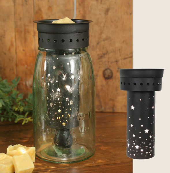 Quart Mason Jar Wax Warmer w/Starry Sky Pattern-Quart Mason Jar Wax Warmer wStarry Sky Pattern