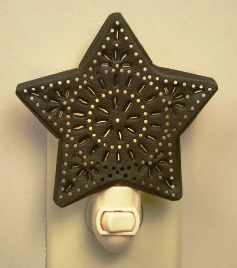 Punched Star Night Light - Rustic Brown - Box of 6-Punched Star Night Light - Rustic Brown - Box of 6