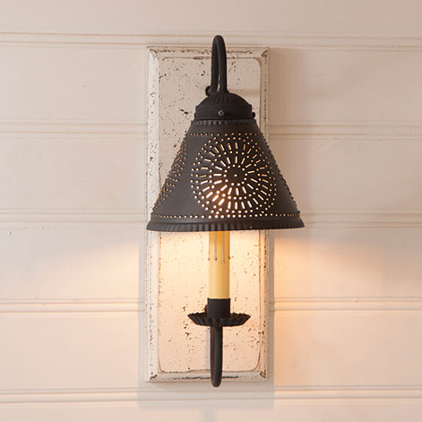 Crestwood Sconce in Vintage White-Crestwood Sconce in Vintage White