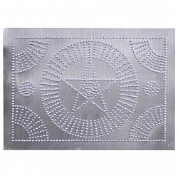 Star Circle Panel in Unfinished Tin-Star Circle Panel in Unfinished Tin