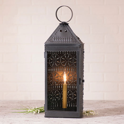 Tall Harbor Lantern in Smokey Black-Tall Harbor Lantern in Smokey Black