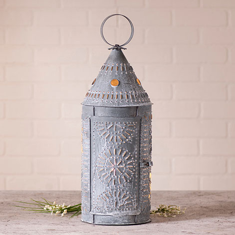 21 Inch Lantern in Weathered Zinc-21 Inch Lantern in Weathered Zinc