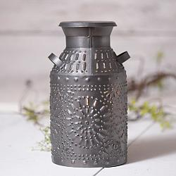 Milk Can Accent Light in Antique Tin-Milk Can Accent Light in Antique Tin