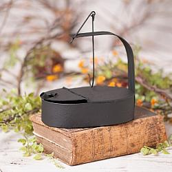 Betty Oil Lamp in Textured Black-Betty Oil Lamp in Textured Black