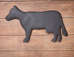 Cow Wall Hanger in Textured Black